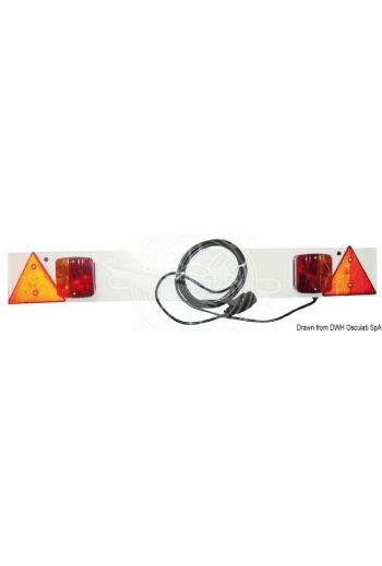 Rear plastic bar with lights (Description: 120-cm plastic bar)