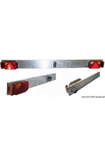 Aluminium bar with lights (Description: 180-cm strip)