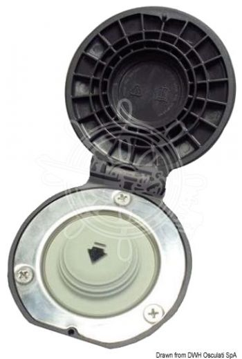 LEWMAR footswitch for windlass electric control (For windlasses: All Lewmar models, Outer Ø: 78 mm, Bore Ø mm: 9,5 mm)