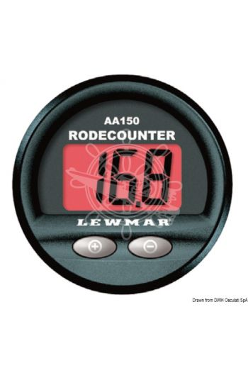 LEWMAR chain counter with alarm (Outer Øl mm: 60, V: 12/24)