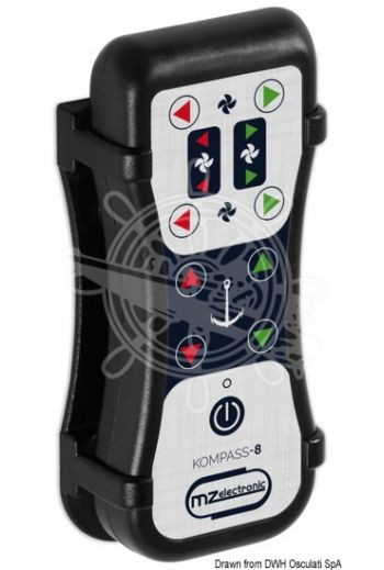 MZ ELECTRONIC Kompass-8 radio controller (transmitter + receiver) (Description: 8-channel controller, Frequency: 868 Mhz / 913 Mhz, Measures: 60x30x145 (h), OPTIONAL remote ante)