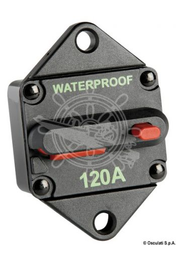 Watertight thermal circuit breaker for windlasses and bow thrusters