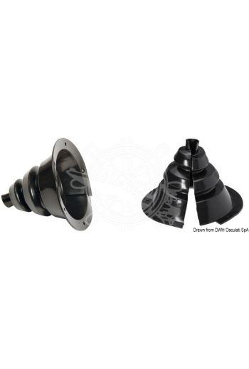 Openable fairlead bellows