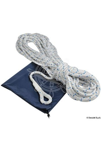 Anchor rope made of polyester braid with lead core for the first 10 metres