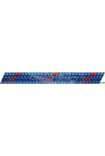 Double braid made of high-strength low-elongation polyester