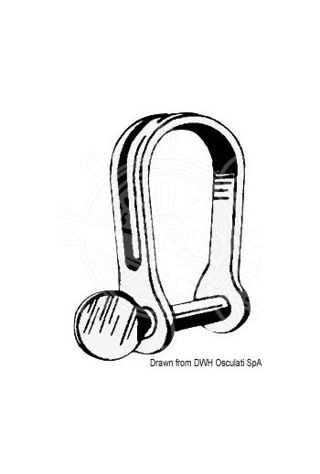 Stainless Strip Shackles (D-form)
