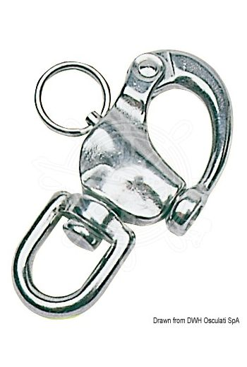 Snap-Shackles for spinnaker, halyards and general purposes, made of stainless steel
