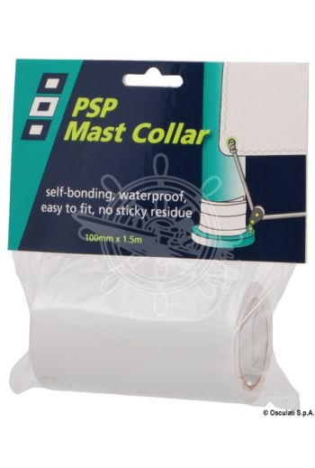 PSP Mast Collar self-amalgamating tape for mast foot (Color: white, Roll: 100 mm x 1.25 m)