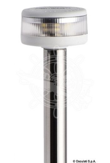 Pole light with EVOLED 360° light - Pull-out version with wall-mounting stainless steel base