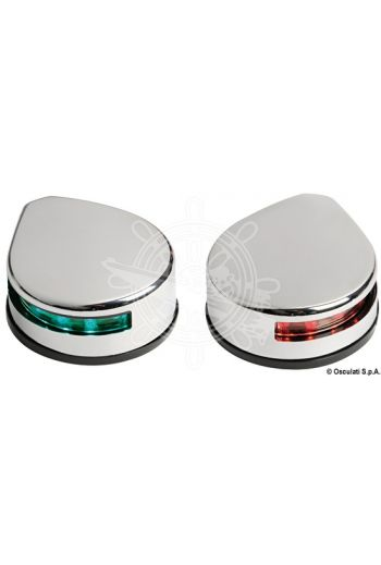 Evoled low consumption LED navigation lights made of stainless steel for flat mounting