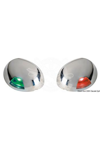 Sea-Dog stainless steel LED navigation lights.