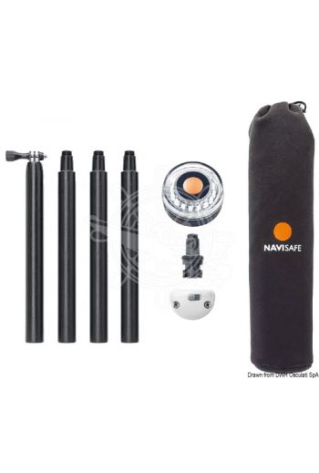 NAVISAFE mounting kit + pole + 360° light (It includes: Navilight 360° 11.139.014-pcs poleVertical support 11.139.10Neoprene carrying bag)