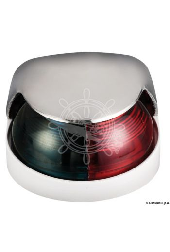 Navigation lights made of stainless steel