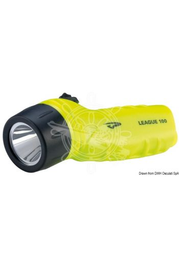 PRINCETON League LED underwater torch, IPX8 (Watertight up to: 100 m, Lumen: 260, Range: 180 m, Hours: 10, Frame color: Fluo yellow, Battery included: 4 A)
