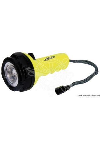 Sub-Extreme underwater LED torch (Watertight up to: 30 m, Lumen: 300, Range: 45 m, Life: 3,5, Flash mode: No, Body colour: Fluo yellow, Dimensi)