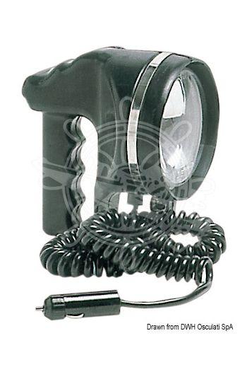 """Portable light, adjustable (Handle: Anatomically designed, V: 12, W: 55, Range: 500 m, Reflector Ø: 4"""")"""