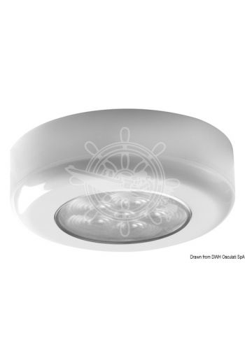 LED ceiling light (Finish: white, V: 12/24, W: 1,2, lumen: 75, K: 2900-3200, LED beam angle: 120°, No of LEDs: 6, light colour: )