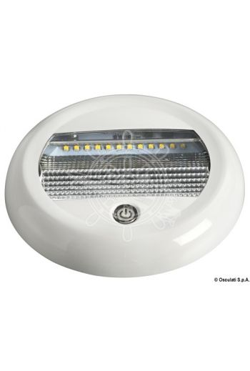 LED ceiling light (V: 10/30, W*: 3/6/9, Lumen: 1780, K: 4500, LED beam angle: 120°, No of LEDs: 24, Measures: Ø 130 x 18.5 h)