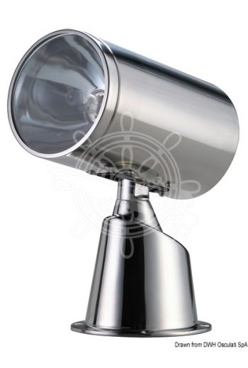 Classic electrical spot light made of stainless steel