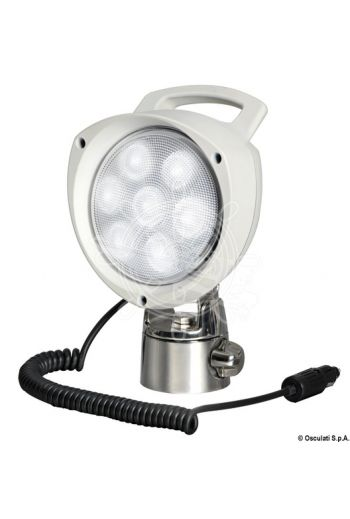 Articulating, Portable Spotlight (V: 12/24, W: 21, Switch: Yes, Lumen: 2000, K: 5000-6500, LED beam angle: 50°, No of LEDs: 7 x 3 W)