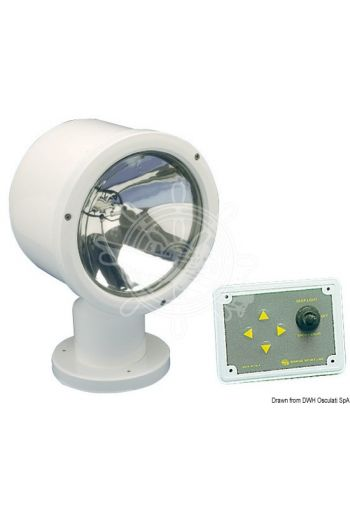 "MEGA electrically operated light with Sealed Beam 7"" watertight bulb"