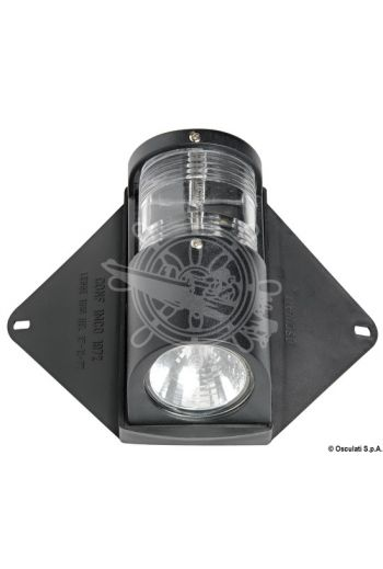Utility navigation light and deck light for hulls up to 12 m