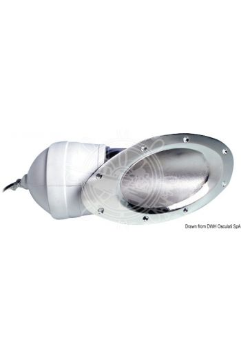 "Fairing light pair, built-in model fitted with Sealed Beam 4"" watertight bulb. For installation above the waterline"