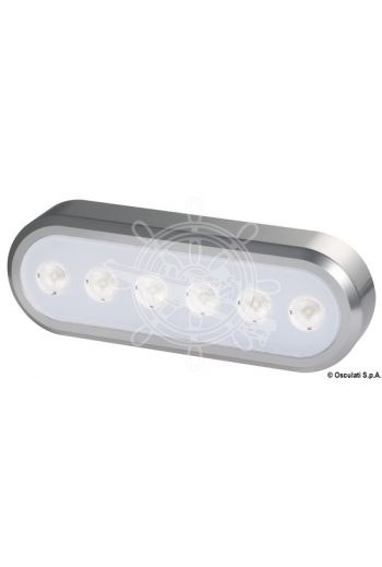 Self-supporting adjustable LED light (V: 12/24, Lumen: 1400, K: 6000, LED angle: 60°, No of LEDs: 6x3 W, Measures: 154x53)