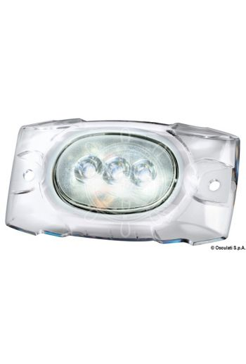 Underwater LED light for hull/transom
