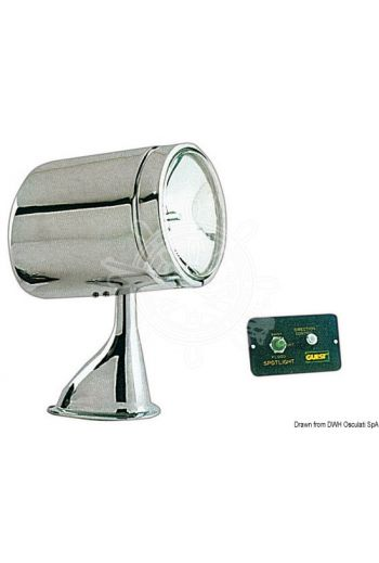 "GUEST remote-controlled light (Model: ""Model 5"", Power: 12, Candles: 72.000/30.000, Base: 140x89 mm, Measures: 241h.x115Øx177 depth, Spare b)"