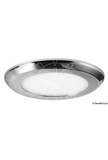 Luna LED ceiling light, recessless version (Finish: Mirror-polished, V: 12, W: 3,25, Lumen: 240, K: 3000, LED beam angle: 100, No of LEDs: 24, Light colou)