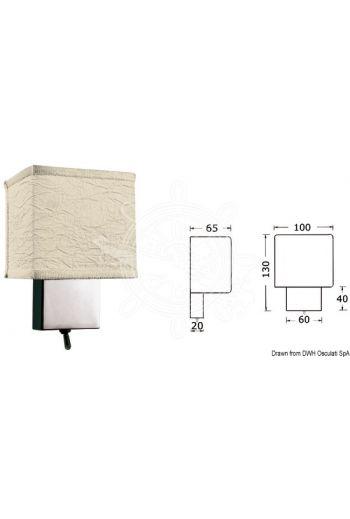 FORESTI E SUARDI bedhead halogen spotlight (Finish: Chromed brass, V: 12/24, W: 20, Switch: Yes, Light colour: White, Optional bulb: 14.453.01; 14.100.24)