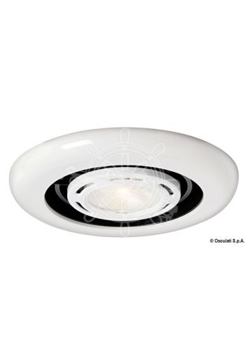 Extract and Light halogen spotlight with extractor fan for recess mounting