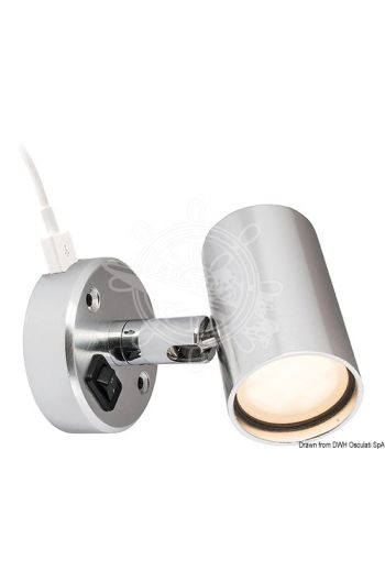 BATSYSTEM Tube LED spotlight with USB outlet (13.867.05 excluded)