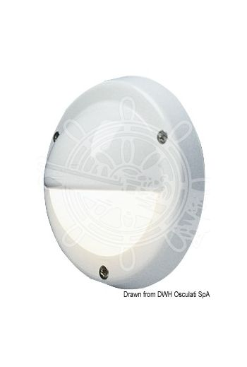BATSYSTEM Targa Cap spotlight, watertight (Finish: White ABS, spare bulb: 14.454.12; 14.454.24, LED replacing bulb: 14.450.01)