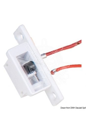 Courtesy light with automatic switching (Finish: White ABS, V: 12, W: 4, Lumen: 50, Light colour: White, Ø base: 32 mm, Overhang: 37 mm, Spare bulb: 1)