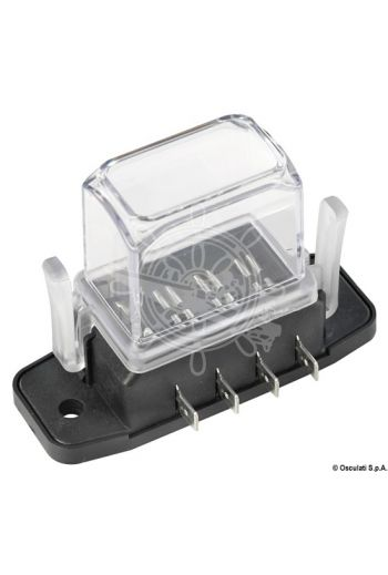 Watertight blade fuse holder with deep lid