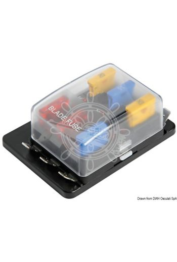 Fuse holder box with warning lights