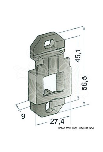 Support base, wall-mounting model (For mountin with: 2 screws, PCS: 10)