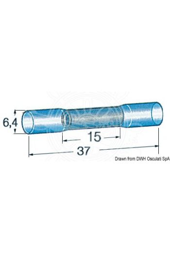 Pre-insulated heat-shrinkable tube for sealing joints, 2 cables