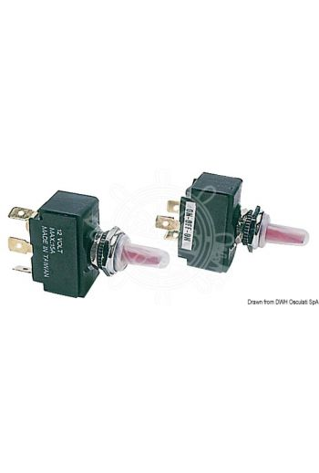 Toggle switch, lighted model