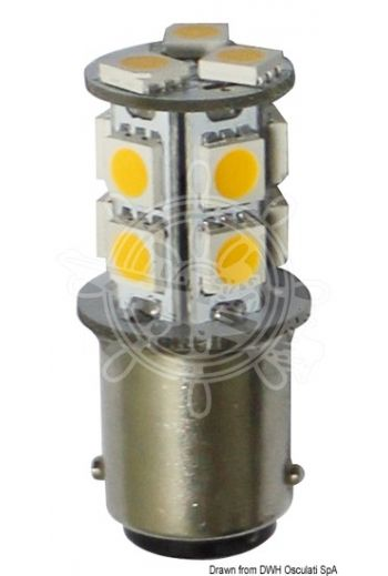 SMD LED bulb for spotlights, BA15D screw