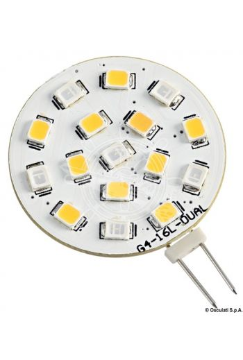 Bicolour SMD LED bulb, G4 screw