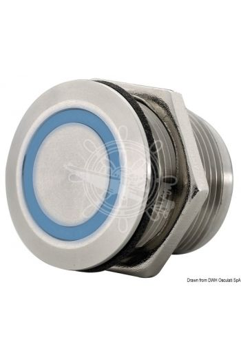 Dimmerable touch switch for LED lights (V: 12/24, Capacity W: 18, Bore Ø mm: 19)