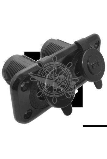 Double socket (Measures: 105x45 mm)