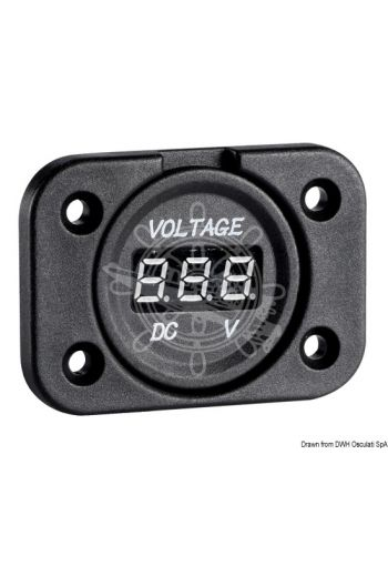 Digital voltmeter and sockets for recess mounting
