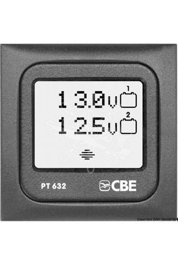 Digital voltmeter display (Frame: Dark grey, Measures: 60 x 60 mm)