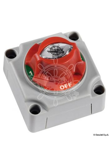 Battery switch (Continuous capacity: 250 A, Capacity: 450 A - 5 min / 700 A - 10 sec, Pins mm: 10, Measures: 69x69x75 h)