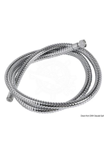 Polished stainless steel shower hose