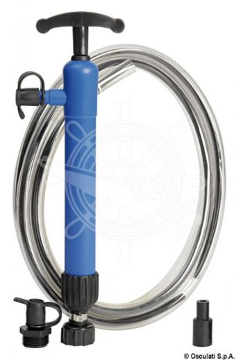 Double acting hand pump, designed to suction oil (Length: 390 mm)